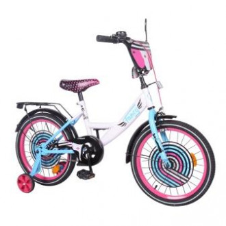 "Велосипед TILLY Fancy 18"" T-218214 white+pink+blue /1/"