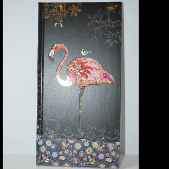 "Блокнот 100*200/64кл. ""BugArt.Black Flamingo"" интегр.фольг.золот+УФ выб. 151425  YES"